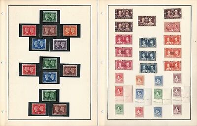 British Colonies 1946 Peace Issue Mint LH, Set of 182 Stamps, 9 Pages