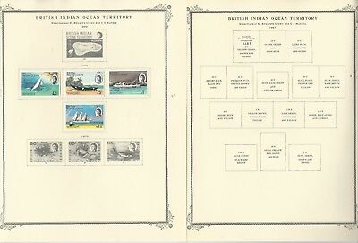 British Indian Ocean Collection 1867-1975 on 6 Scott Specialty Pages