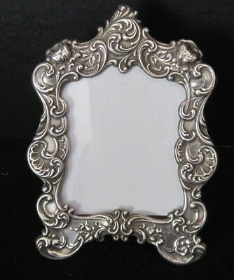 """Fancy repousse Gorham Sterling Silver 321 Picture Frame 5""""X3.5"""""""