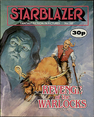 Revenge Of The Warlocks,starblazer Fantasy Fiction In Pictures,comic,no.241,1989