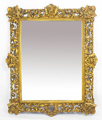 Antique Large Italian Gilded Florentine Mirror 18th Century - 145 x 119 cm
