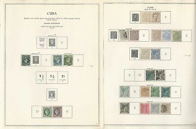 Caribbean Island 1855-1961 Collection on 75 Minkus One-Sided Specialty Pages