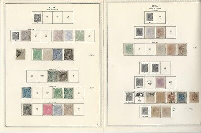 Caribbean Island 1855-61 Collection on 75 Minkus One-Sided Specialty Pages (B)