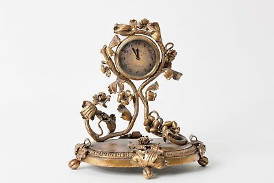 Antique S&G GUMP bronze 8 day desk clock by Schild & Co made in France. Working!