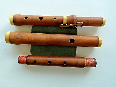 c1830 Dollard Dublin Irish Antique Wooden Flute A=440 Classical Baroque 1-keyed