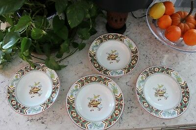 Set of  4**Minton ORIENTAL BLOSSOM (CENTER DESIGN) Rimmed Soup Bowl 9""