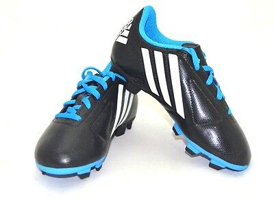 quite nice 6f3a6 39b7f Adidas Kids TRX FG Soccer Cleats Black  White  Blue Size 2.5 FREE  SHIPPING NEW
