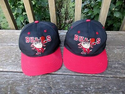 Vintage Chicago Bulls Snapback Hat Lot Looney Tunes Youth Snap Back