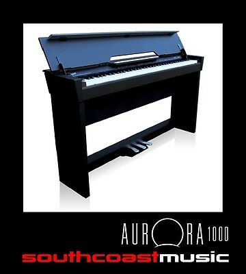 88 Note Digital Piano Ashton Aurora 1000 Elegant Ebony Cabinet Real Piano Tone
