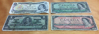 $5.00 Face In Bank Of Canada Notes ~ .99 Cent Starting Bid & No Reserve!
