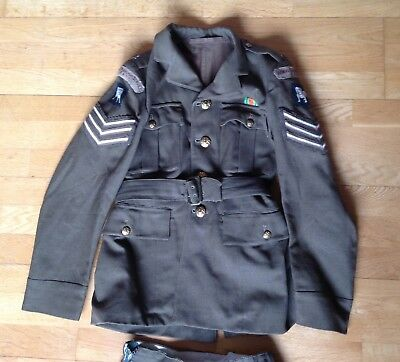 Ww2 Original Ats Women Auxiliary Transport Fany Uniform Battledress & Skirt 1942