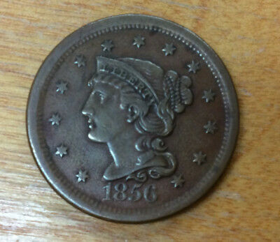 1856 Large Cent - Grades A Nice Extra Fine For Condition - High Detail Coin