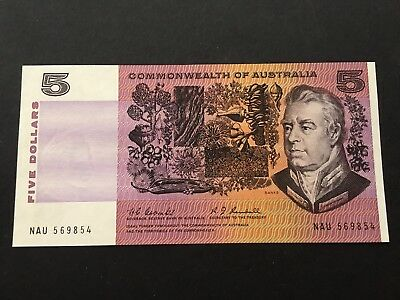 $5 1967 Coombs/Randall    SCARCEST $5 PAPER NOTE  UNC  CV=$350!!