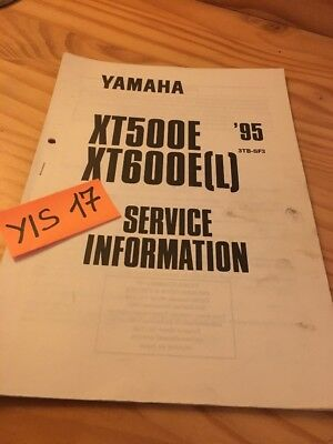 Yamaha XT500E XT600E L 1995 XTE 500 600 service information technique data