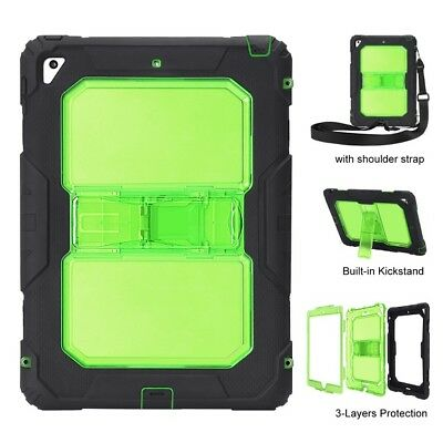 For 2017 iPad 9.7 A1822 A1823 Heavy Water Shock Proof Stand Duty Case Cover
