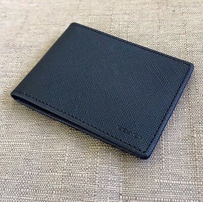 New Coach Men's Saffiano Leather Slim Id Card Case