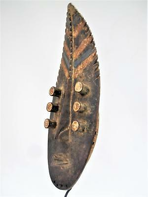 Fine Tribal Gallery - 0240  Stunning old Grebo Kru Shield Mask,  Liberia Dan