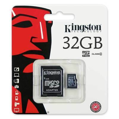 32GB NEW Kingston Micro SD SDHC Memory Card Class 4 with SD Card Adapter 32GB UK