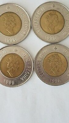 1996 Canada 2 Dollar lot of 4