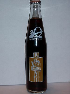 10 Oz Coca Cola Commemorative Bottle - 1991 Hardee's The First 30 Years