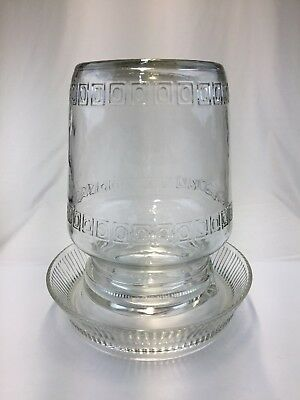 Vintage Chicken Waterer Anderson Box Co. Base & Premier Chick-Fount
