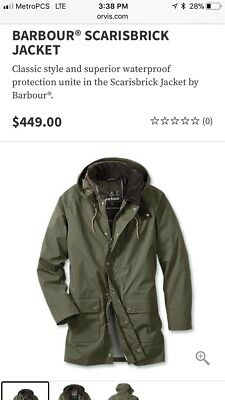 Barbour Scarisbrick Jacket Waterproof Rain Coat NEW M Medium retail $449