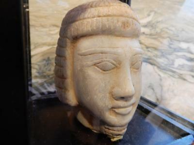 Goddess Hathor – Marble* Head dating as early as 3000BC ***Special*** (HA20181a)