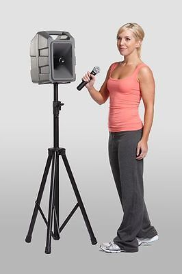 Public Address System with Wired Hand Held Microphone & Tripod. Loud!
