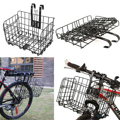 Rear Foldable Bicycle Quick Release Front Bike Basket for Extra Storage Baskets