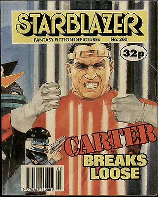 Carter Breaks Loose,starblazer Fantasy Fiction In Pictures,comic,no.260,1990