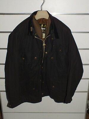 barbour beacon jacket  + pin+ inner pile jacke waxed cotton c44-112 xl