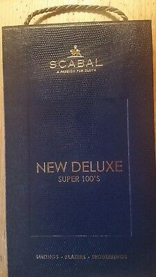 SCABAL London Stoffmuster Mappe NEW DELUXE Super 100´s Special Selection 2330