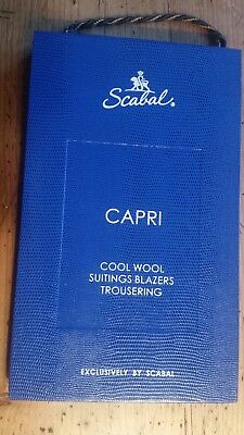 SCABAL London Stoffe Stoffmuster Mappe CAPRI Cool Wool Suitings Blazers Trouser