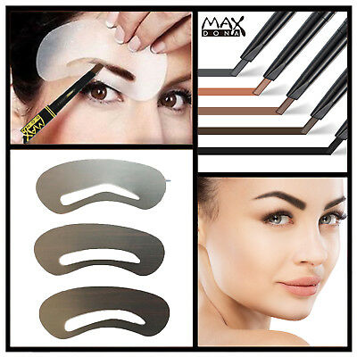 Professional Eyebrow Shaping Stencil & Pencil Eye Brow Template Liner Shape Kit
