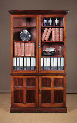 Antique 19th.c. Mahogany Office Bookcase c.1890