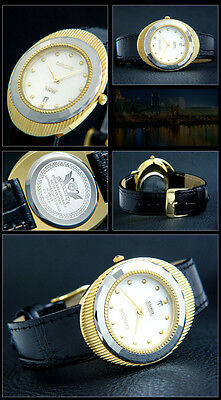 Beautiful & Nice Cavadini Unisex Watch IP Gold Plated Series Edessa with