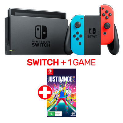 Nintendo Switch Neon Console + 1 Game - Switch - BRAND NEW