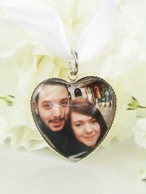 Photo Bouquet Memory Heart Shaped Picture Charm Wedding Accessories Personalised
