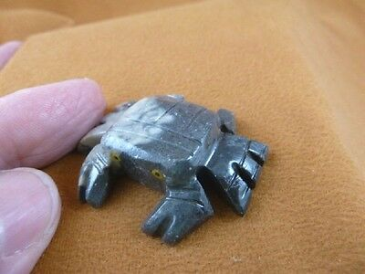 (Y-CRA-11) little Gray Crab carving SOAPSTONE carving stone figurine love crabs