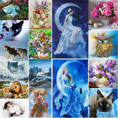 Divers 5D Diamant Broderie Peinture Point Diamond Painting Kit Animal Home Decor