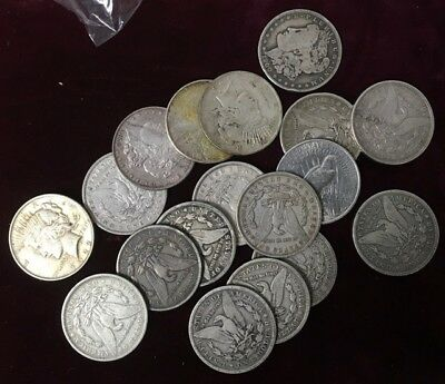 Lot Of Morgan And Peace Silver Dollars