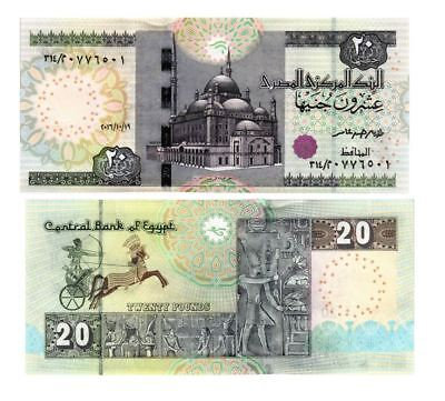 Egypt 20 Pounds 2016 P 65 Unc