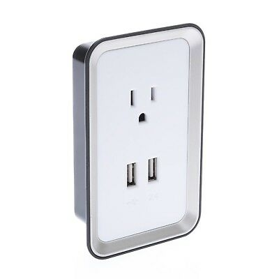Sharper Image USB Wall Plate Charger - Retail Packaging - White