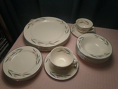 Edwin M Knowles China Carlton 21 pcs.  Vintage