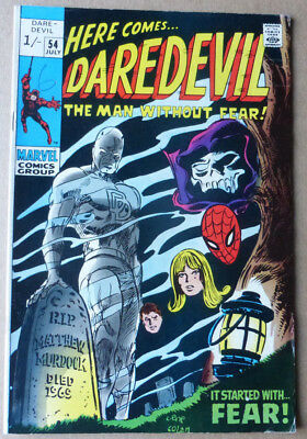 Daredevil #54, A Classic Silver Age Marvel Features Spider-Man!!!