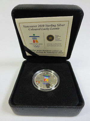 RCM Vancouver 2010 Sterling Silver Coloured Lucky Loonie