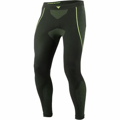 Dainese D-Core Dry Mens Base Layer Pants Black/Fluo Yellow Large