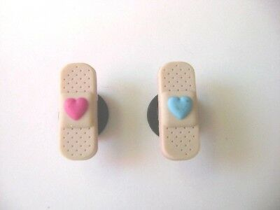 Authentic Jibbitz Band Aide - with pink or blue heart - Nurses  NWT