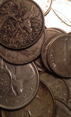 Big Lot Of Silver Canada 25/10/5 Cents 24 Coins Total
