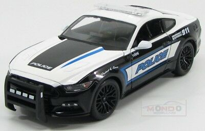 Ford Usa Mustang Coupe Gt Police 2015 911 Emergency Maisto 1:18 MI36203POL Model